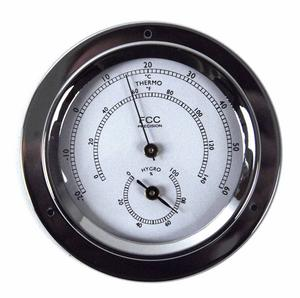 Classic Chrome Hygrometer / Thermometer 110Mm 1506Htch Thumbnail 1