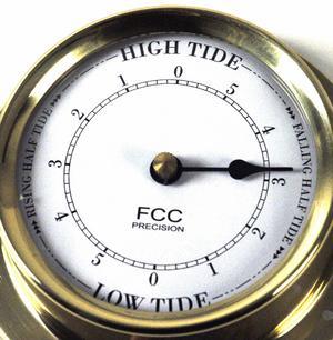 Classic Brass Tide Clock 110Mm 1506Td Thumbnail 2