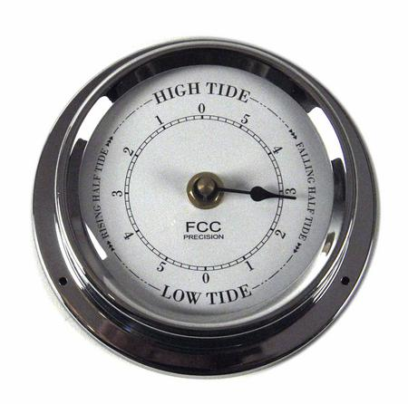 Classic Chrome Tide Clock 125Mm 1508Tdch