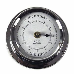 Classic Chrome Tide Clock 125Mm 1508Tdch Thumbnail 1