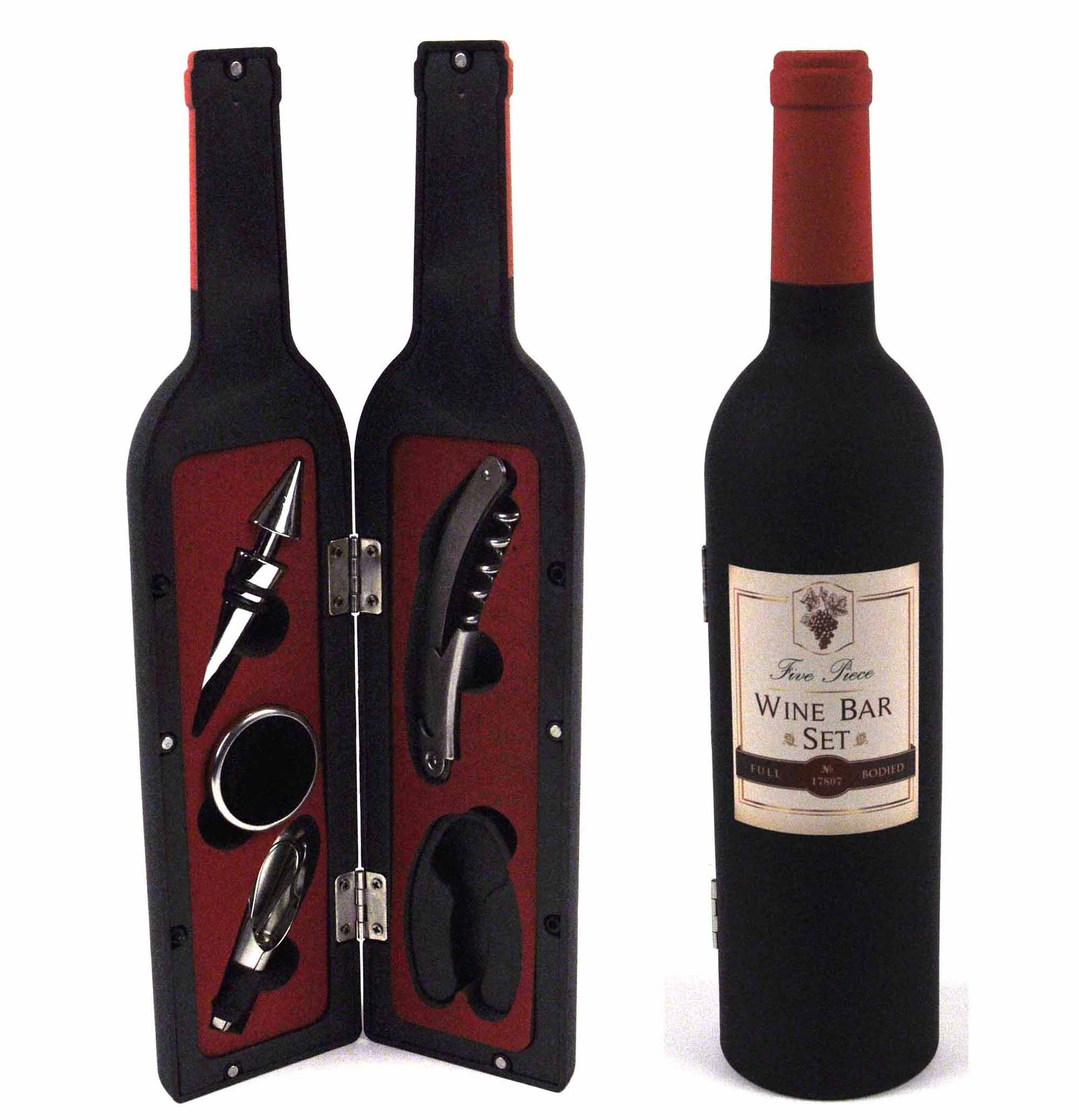 5 piece wine bottle bar set ebay for How to preserve wine after opening bottle