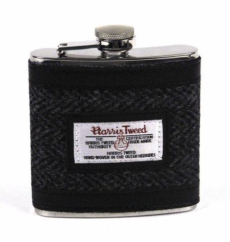 Harris Tweed Hip Flask