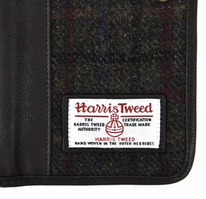 Harris Tweed Green Travel Documents Wallet / Organiser