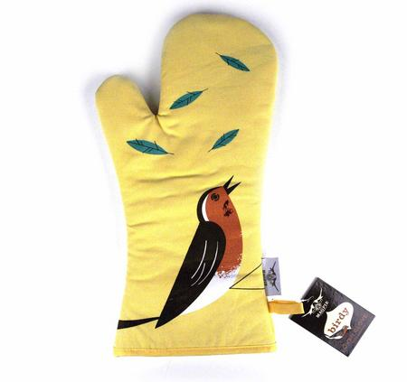 Robin Birdy Oven Mitt / Oven Glove By Magpie