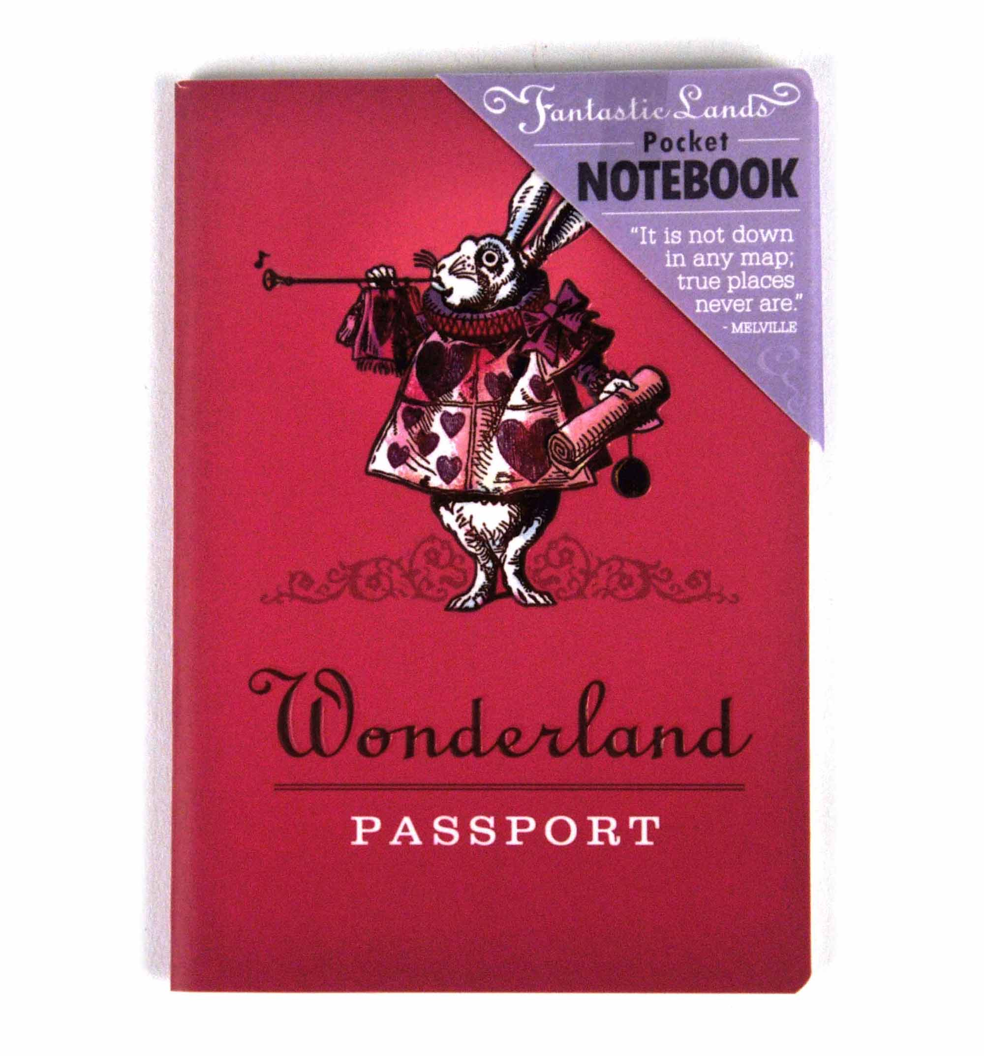 Wonderland Passport Deluxe Notebook - Go with Alice to Wonderland