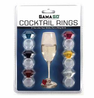 Cocktail Rings - Super Bling Cocktail Glass Decor Thumbnail 1