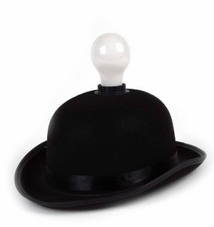 Lightheaded - Bowler Hat With Built In Light Bulb Lamp Thumbnail 1