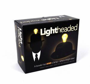 Lightheaded - Bowler Hat With Built In Light Bulb Lamp Thumbnail 2