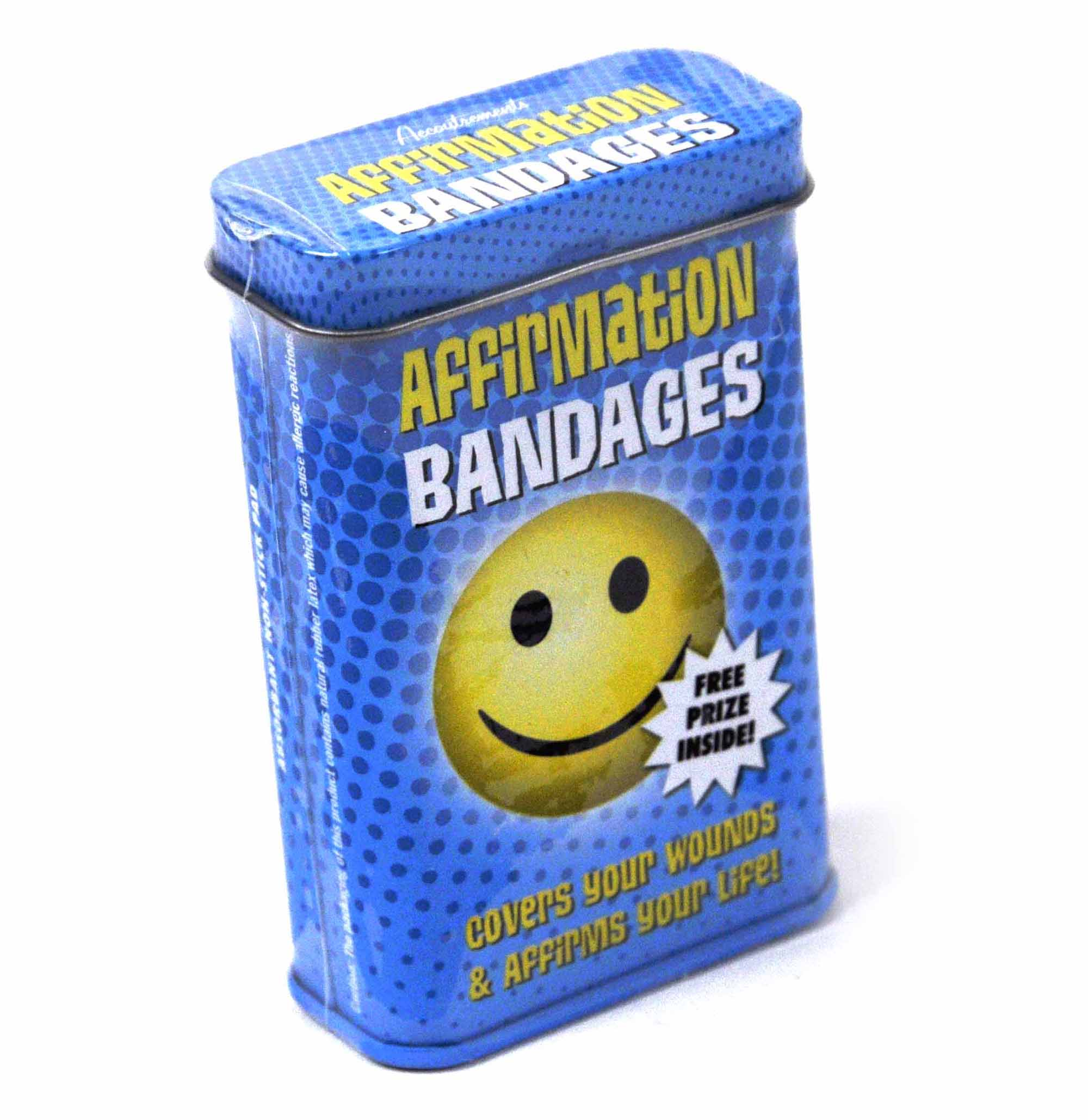 Affirmation Smiley - first aid in a tin - Smilies plasters / band aids