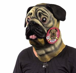 Pug Dog  Head - Lifesize Head Mask Thumbnail 3
