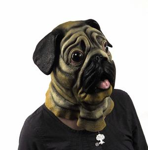 Pug Dog  Head - Lifesize Head Mask Thumbnail 5