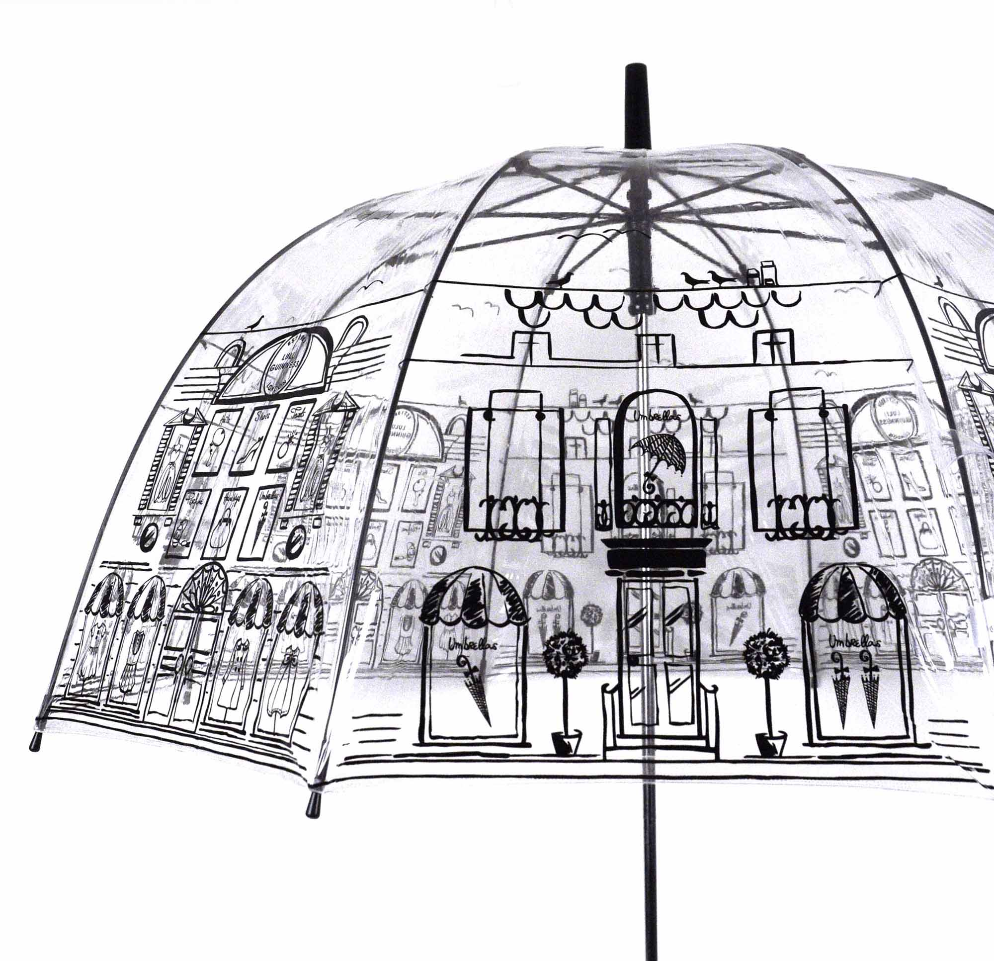 Lulu Guinness 'Umbrella Shopping'  Birdcage Umbrella