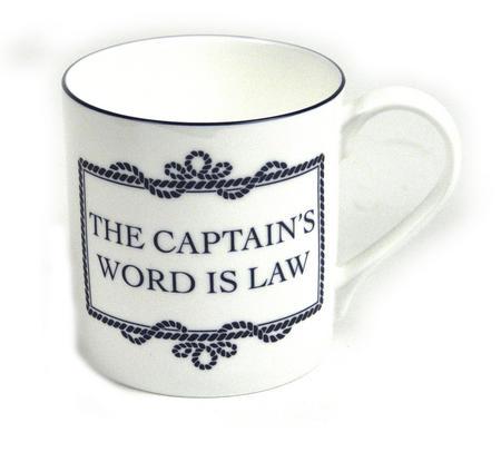 Captain's Word Is Law Mug