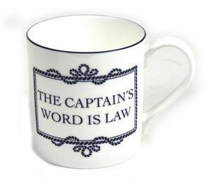 Captain's Word Is Law Mug Thumbnail 1