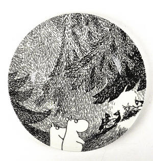 Moomin Dessert Plate The Meeting Thumbnail 1