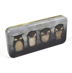 Santoro Owl Keepsake Box / Pencil Tin Thumbnail 1