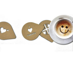 Coffee Stencils And Chocolate Shaker - Customise Your Cappuccino Thumbnail 2