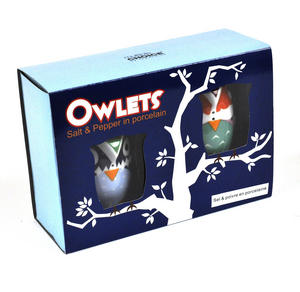 Owlets - Porcelain Salt And Pepper Owls Thumbnail 2