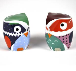 Owlets - Porcelain Salt And Pepper Owls Thumbnail 3