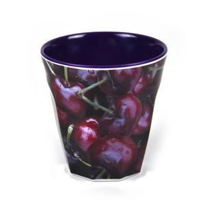 Cherries - Fluted Melamine Beaker Thumbnail 1