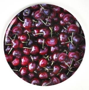 """Cherries - Melamine Plate 28cm / 11"""" Thumbnail 1"""