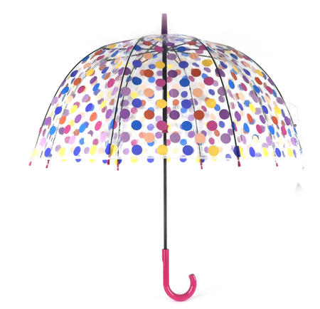 Spotty Birdcage Full Dome Umbrella - Transparent