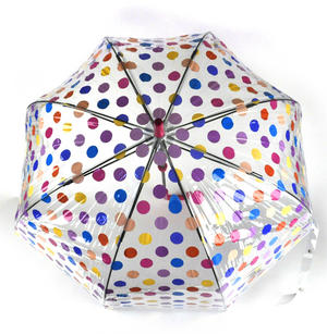 Spotty Birdcage Full Dome Umbrella - Transparent Thumbnail 3