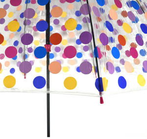 Spotty Birdcage Full Dome Umbrella - Transparent Thumbnail 4
