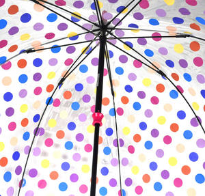 Spotty Birdcage Full Dome Umbrella - Transparent Thumbnail 6