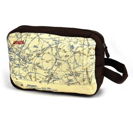 Top Secret 'Your Country' Tough Washbag - Confidential Operations Trench Map