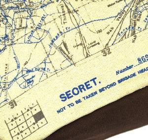 Top Secret 'Your Country' Tough Washbag - Confidential Operations Trench Map Thumbnail 3