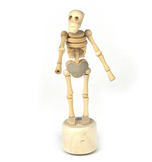 Lazy Bones - Wooden Collapsing Skeleton Man String Puppet Thumbnail 2