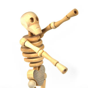 Lazy Bones - Wooden Collapsing Skeleton Man String Puppet Thumbnail 4