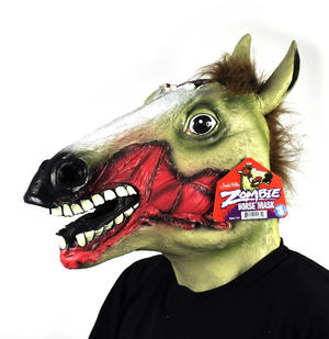 Zombie Horse - Lifesize Head Mask Thumbnail 1