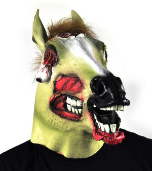 Zombie Horse - Lifesize Head Mask Thumbnail 2