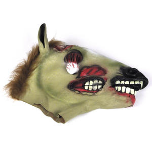 Zombie Horse - Lifesize Head Mask Thumbnail 3