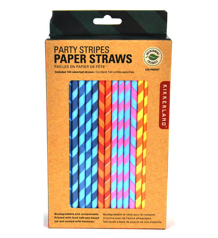 Party Stripes Straws (Pack of 144)