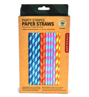 Party Stripes Straws (Pack of 144) Thumbnail 1