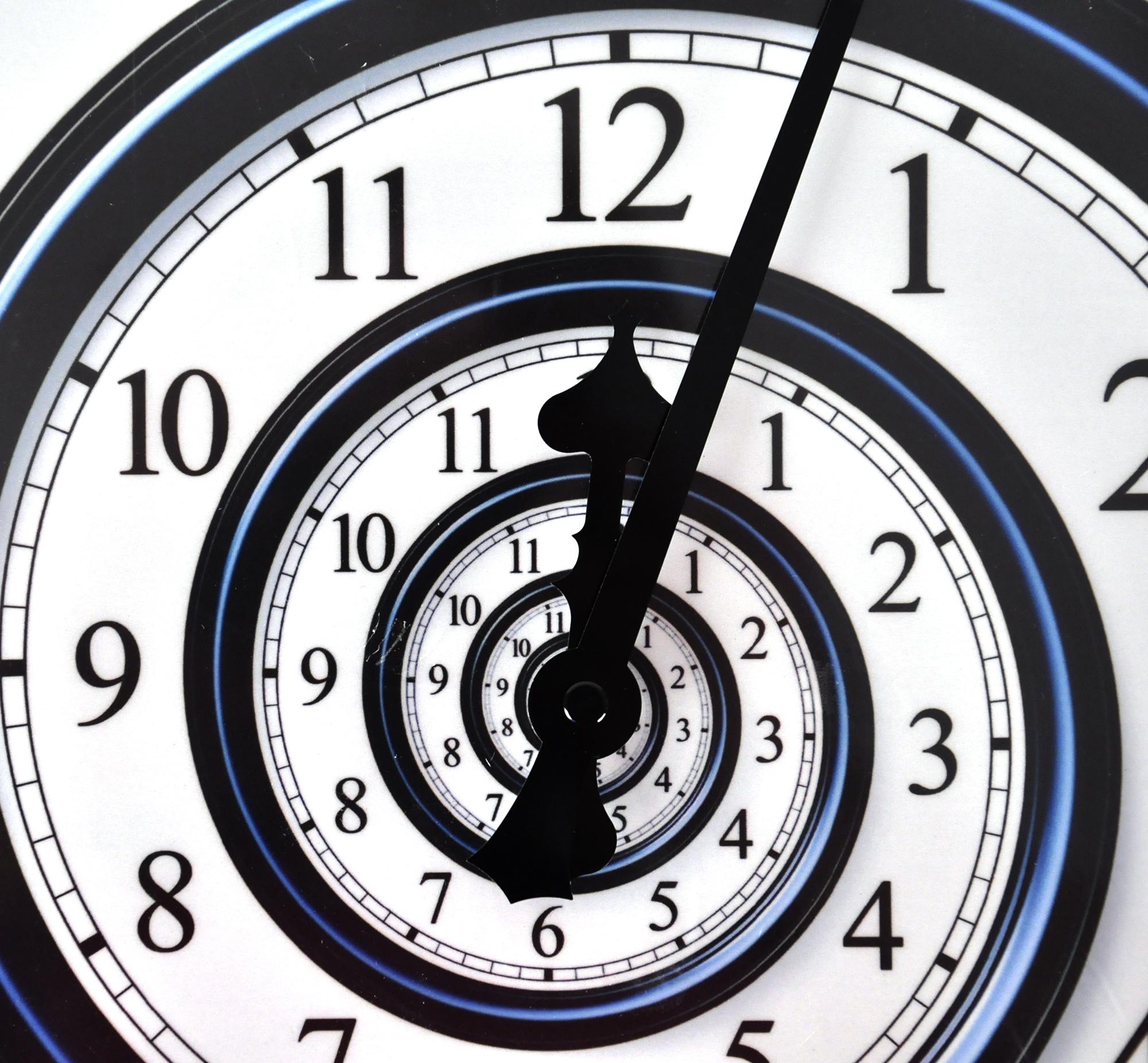 Infinite Spiral Wall Clock Pink Cat Shop