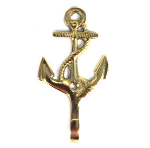 Nautical Anchor Brass Hook Thumbnail 1