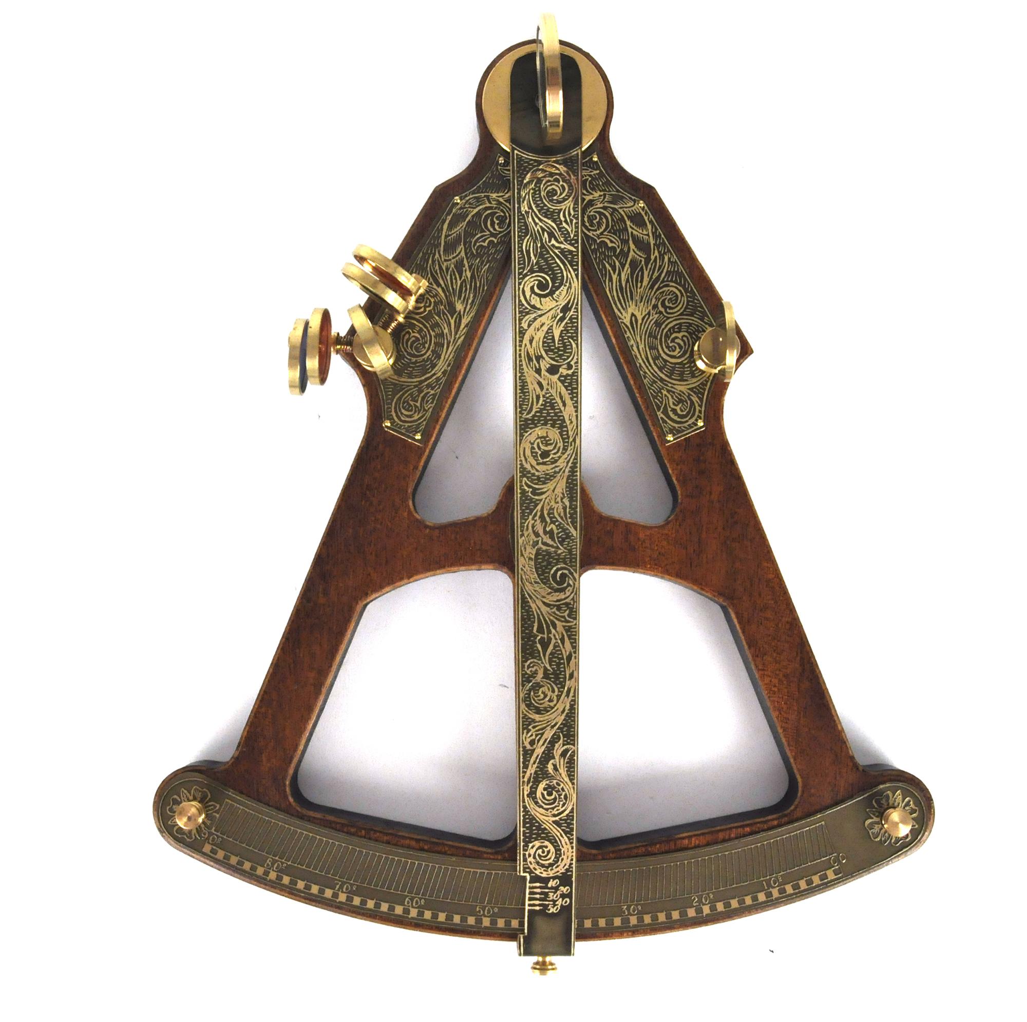Antique Science Instruments : Sextant hemispherium replica antique scientific