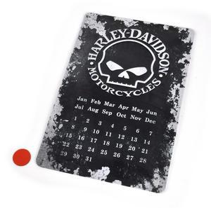 "Harley Davidson Motorcycles Calendar Metal Plaque - 20 x 30cm / 8"" x 12 "" Thumbnail 2"