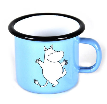 Moomintroll on Light Blue - Junior  2.5cl Moomin Muurla Enamel Mug