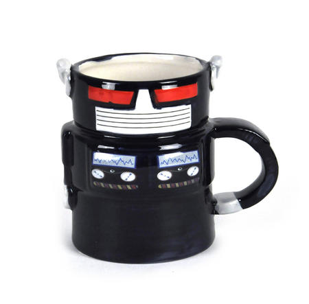 Robot Mug - Retro Blue