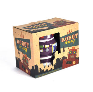 Robot Mug - Retro Purple Thumbnail 4