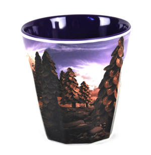 "Chocolate Train Land - Foodscape by Carl Warner - Fluted Melamine Beaker - 9cm /4"" Thumbnail 3"