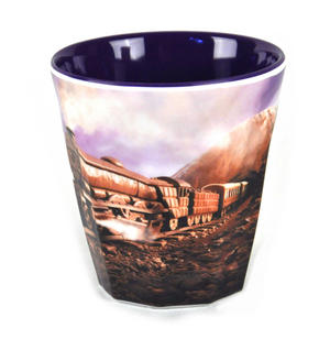 "Chocolate Train Land - Foodscape by Carl Warner - Fluted Melamine Beaker - 9cm /4"" Thumbnail 4"