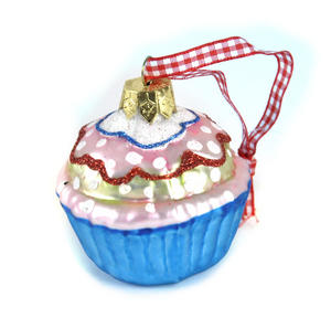 "Blue Cupcake with Icing - 6cm / 2"" Hanging Decoration Thumbnail 2"