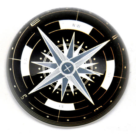 Compass Paper Weight Dome
