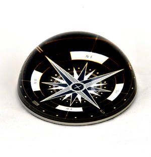 Compass Paper Weight Dome Thumbnail 3